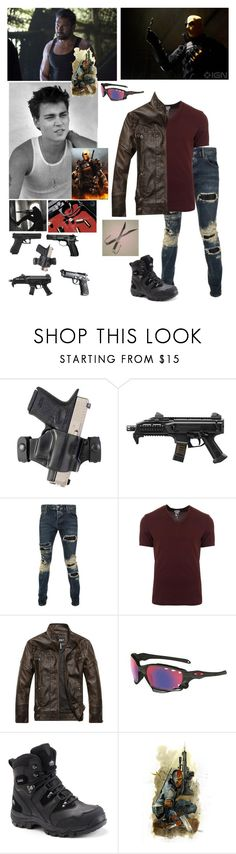 """""""Hunter Wilson Deathstrokes son."""" by bumble-bucky ❤ liked on Polyvore featuring Paul Frank, Holster, Philipp Plein, Dolce&Gabbana, Oakley and Pacific Trail"""
