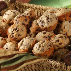 Banana Chocolate Chip Mini Muffins - with 5 bananas per batch (and lots of mini chocolate chips), how can you go wrong??  They're DELICIOUS!