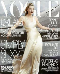 Cate Blanchett by Annie Leibovitz Vogue US December 2004 Vogue Magazine Covers, Fashion Magazine Cover, Fashion Cover, Vogue Covers, Fashion Pics, Robin Wright, Vogue Us, Vogue Korea, Cate Blanchett