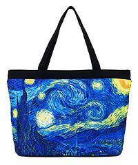 I love van Gogh's Starry Night! I want this for a travel bag!!