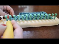 Loom Knit Elongated Drop Stitch - YouTube