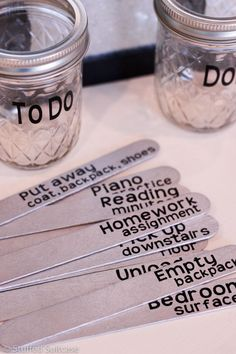 Create a variety of chores for your kids using popsicle sticks then you can change out what chores you assign on what days.