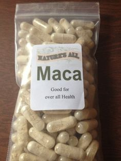 Maca Capsules: All around amazing herb. Great for Health Benefits of Maca:- Increases energy and endurance / stamina - Ideal for both men & women! Alleviates chronic exhaustion (fatigue) syndrome & depression  - Rebuilds the adrenal system so that your body creates its own energy - Reduces anxiety, stress, & fatigue from work or illness - Has a beneficial action on the circulatory system - Speeds wound healing and reduces anemia - Enhances memory, learning, and mental ability