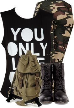 """Camo :D"" by mindless-sweetheart ❤ liked on Polyvore"