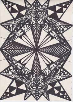 Kaleidoscope: Symmetrical Art Design by OneLoveGallery on Etsy