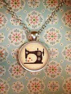 Sewing Machine Necklace Vintage Seamstress Sew by teaANDtentacles, $8.75