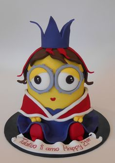 Minion Queen Bob Birthday Cake - by Nada's Cakes Canberra