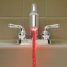 Temperature Controlled faucet light lets kids know when the water is hot or cold! $20