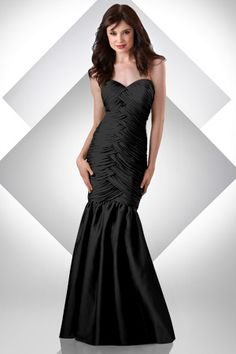 STYLE: 300  Iridescent Chiffon sweetheart strapless dress; criss cross bodice. Mermaid Detachable skirt.