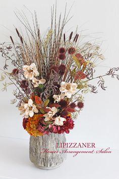 水天宮 谷や和(KAZU)様へ 秋のエントランスアレンジ | LIPIZZANER Flower Arrangement Salon