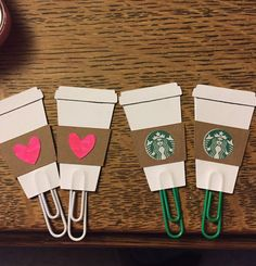 A coffee addict planner must! Love #etsy  Starbucks Inspired Paperclip- Perfect for Erin Condren, Plum Paper, Filofax, or Kikki K