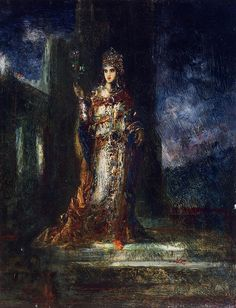 Gustave Moreau ~ The Fiancee of the Night (The Song of Songs)