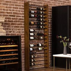 Buy the Corsica Vertical Wood and Metal Wine Rack at Wine Enthusiast – we are your ultimate destination for wine storage, wine accessories, gifts and more! Wine Rack Storage, Wine Rack Wall, Wine Rack Cabinet, Wine Rack Inspiration, Wine Rack Design, Wine Bottle Rack, Wine Bottle Storage, Wine Bottles, Bottle Opener