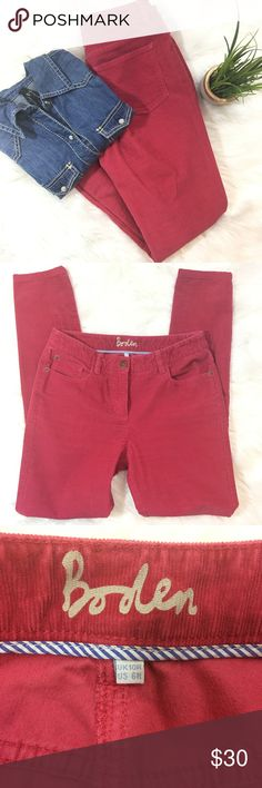 """Boden Corduroy Pants Salmon colored Boden cords. EUC. 30"""" Inseam and 30"""" Waist. Boden Pants Straight Leg"""