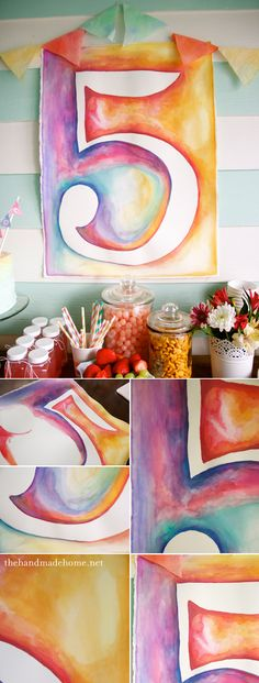 watercolor birthday ideas (tips and tricks)the handmade home Artist Birthday Party, Birthday Ideas, Birthday Cakes, Birthday Parties, Happy Birthday, Kunst Party, Art Party, Thing 1, Handmade Home