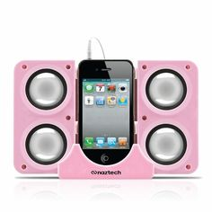 Naztech N40 Portable Speaker System Dock iPhones iPads & 3.5 Audio Devices Pink #SecPro #SecurityProUSA #Security #Pro #USA #Tactical #Military #Law #Promo #Deal #DailyDeals #MGS #MilitaryGearSale #Gear #Sale #EBAY #Ecommerce #Amazon #Hypercel #Naztech #Mobile #Tech #Technology #Music #Techno #Electronic #Audio #iPad #iPadCase #Case #Charger #Powerbank