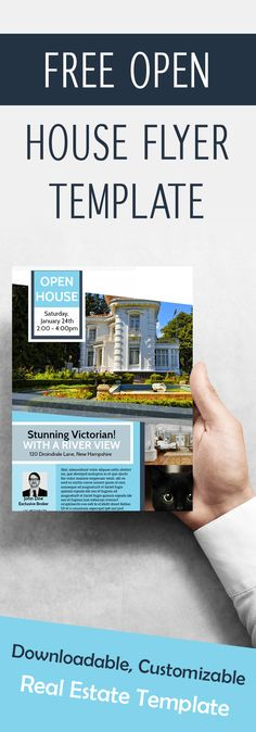 Free Open House Flyer Template – Downloadable, Customizable Real Estate Template