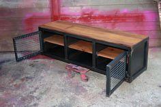 Meuble industriel TV métal et bois création BROCANTETENDANCE