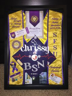 Nursing school shadow box!