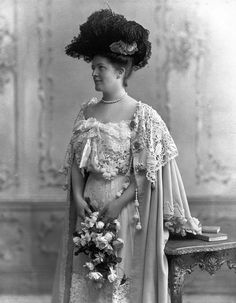 Adelaide Frick dressed to the nines.  If you are ever in Pittsburgh, tour Henry Clay Frick's mansion Clayton.  Very impressive.  If you are lucky you'll see Adelaide's calling card.