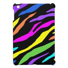 Colorful Zebra Pattern - iPad Mini Case