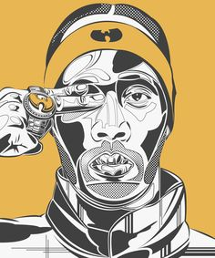 Discover recipes, home ideas, style inspiration and other ideas to try. Wu Tang Collection, Wu Tang Clan Logo, Rap Album Covers, Rap Albums, Hip Hop Art, Photoshop Illustrator, Dope Art, Thug Life, Illustrations And Posters
