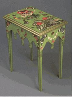 Cadlow Mural World: How to Decoupage Furniture DIY Paper Projects