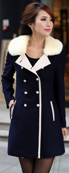 Coat for women - Navy blue/ cos your favorite color is blue.