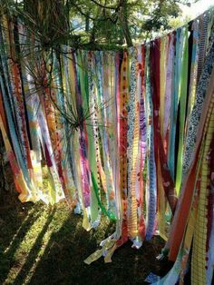Boho Dekoration Gypsy Boho Curtain fabric garland dorm decor by ohMYcharley Introducing Children To Fabric Garland, Curtain Fabric, Scrap Fabric Curtains, Ribbon Curtain, Fabric Backdrop, Backdrop Design, Curtain Rods, Boho Gypsy, Hippie Boho