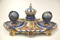 Tintenzeug/ Inkstand. In den 1870er Jahren in der Meissner Porzellan Manufaktur…