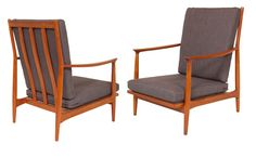 Pair of 1970's Teak Armchairs