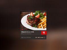 Dribbble - Restaurant Widget by Melih Gengönül