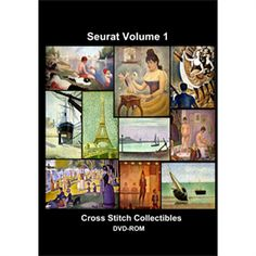 Seurat Vol 1 CD/DVD - Cross Stitch Pattern by Cross Stitch Collectibles