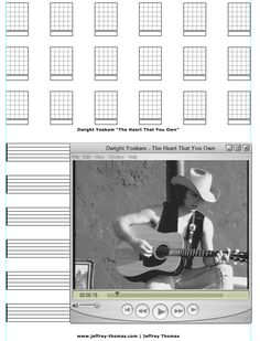 """On The Workbench: """"The Heart That You Own"""" by Dwight Yoakam.  Starting the guitar tab for this cool country tune.  Let me know if you would like free tab updates and skype review: www.jeffrey-thomas.com"""