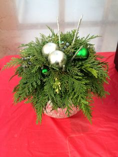 A hint of silver and a touch of green add a Christmas touch to this already beautiful arrangement Sprays, Christmas Wreaths, Touch, Texture, Holiday Decor, Green, Silver, Color, Beautiful