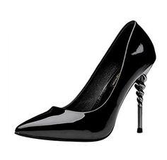 FQ-Real-Women-Elegant-Spiral-Heel-Pointed-Toe-Slip-on-Dress-High-heeled-Shoes-0