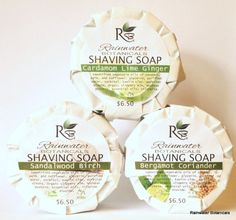 Shaving Soap with Kaolin Clay in 4 essential oil blends