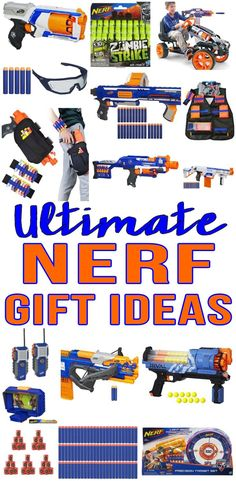 Top Nerf Gifts! Best nerf gun gift ideas for boys, girls, teens,tweens and adults. Fun Nerf presents / products that everyone will love. Nerf guns, nerf bullets and more. Great for kids birthdays, Christmas and more!