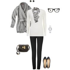"""""""black and white"""" by cs1398 on Polyvore"""