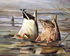 Nature Painting - Whats Up by Donna Tucker