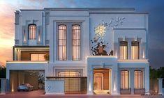 most popular modern dream house exterior design ideas 85 Classic House Exterior, Classic House Design, Dream House Exterior, Modern House Design, Classic Architecture, Islamic Architecture, Facade Architecture, Architecture Images, Villa Design
