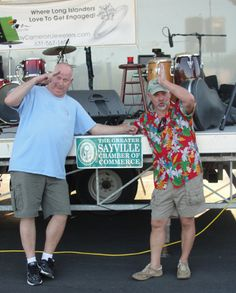 Ed Travers of the Ed Travers Band and Rich DeClemente of DeClemente Promotions/Sayville Chamber's Margaritaville founder!