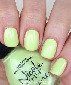 Nicole by OPI Lay It On The Lime. Cute color for toenails Opi Nails, Nail Polishes, Nail Polish Designs, Nail Polish Colors, Cute Nails, Pretty Nails, Kawaii Nails, Healthy Nails, Asdf
