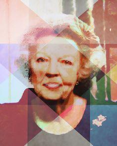 Inzending aDONNAdesign (fotokunst) contest dutch Queen: Beeld van Beatrix