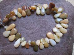 Full Strand  Genuine  Peruvian Opal Pears by JaiVyavsayBeads, $9.99