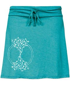 Tree Recycled Yoga Skirt: Soul Flower Clothing