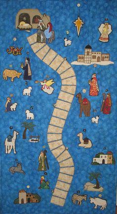 Road to Bethlehem Advent Calendar by SpindlesDesigns on Etsy