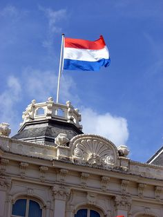 Our first stop is the Netherlands!  the land where the tulips grow! This is the Dutch Flag# monogramsvacation