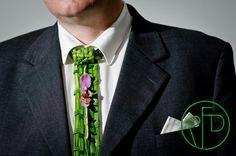 a floral tie by Penttala Floral Design Botanical Fashion, Floral Fashion, Flower Shoes, Flower Dresses, Floral Crown, Floral Tie, Art Floral, Floral Wedding, Wedding Bouquets