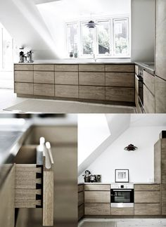 :: KITCHENS :: INTERIORS :: lovely pin, thank you @Cargoh for this find ... simple colour palette, classic. Got to love a kitchen with drawers.  kobenhavns mobelsnedkeri | simple oak kitchen (photo by line thit klein) #kitchens #interiors